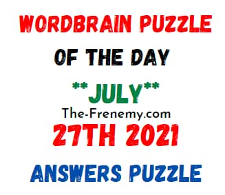 Wordbrain Puzzle of the Day July 27 2021 Answers