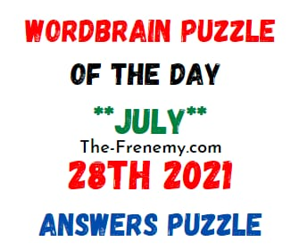 Wordbrain Puzzle of the Day July 28 2021 Answers