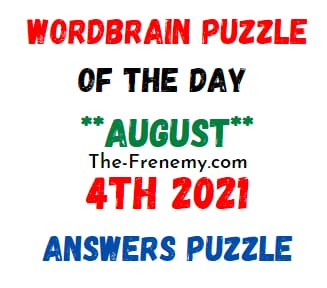 Wordbrain Puzzle of the Day August 4 2021 Answers