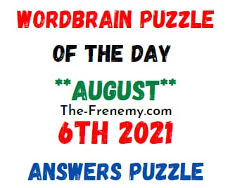 Wordbrain Puzzle of the Day August 6 2021 Answers