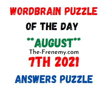 Wordbrain Puzzle of the Day August 7 2021 Answers Puzzle