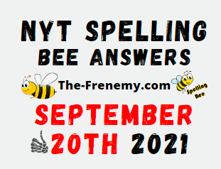 NYT Spelling Bee Daily Puzzle September 20 2021 Answers