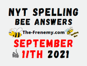 NYT Spelling Bee Daily September 11 2021 Answers Puzzle
