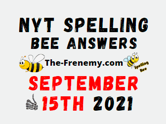 NYT Spelling Bee Daily September 15 2021 Answers Puzzle