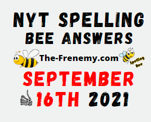 NYT Spelling Bee Daily September 16 2021 Answers Puzzle