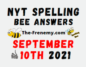 Nyt Spelling Bee Daily Puzzle September 10 2021 Answers