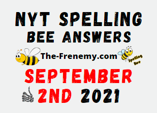 Nyt Spelling Bee Daily Puzzle September 2 2021 Answers