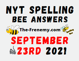 Nyt Spelling Bee Daily Puzzle September 23 2021 Answers