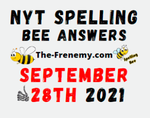 Nyt Spelling Bee Daily Puzzle September 28 2021 Answers