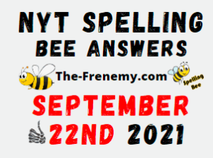 Nyt Spelling Bee Daily September 22 2021 Answers Puzzle