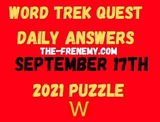 Word Trek Quest Daily Puzzle September 17 2021 Answers