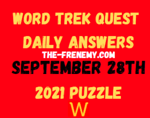 Word Trek Quest Daily Puzzle September 28 2021 Answers