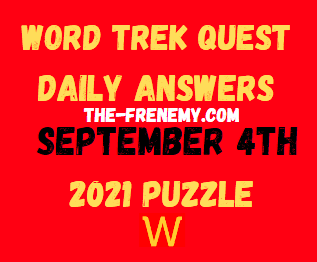 Word Trek Quest Daily Puzzle September 4 2021 Answers