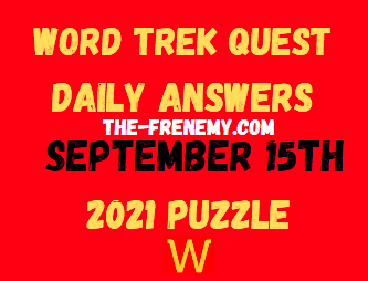 Word Trek Quest Daily September 15 2021 Answers Puzzle