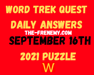 Word Trek Quest Daily September 16 2021 Answers Puzzle