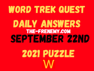 Word Trek Quest Daily September 22 2021 Answers Puzzle