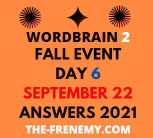WordBrain 2 Fall Event Day 6 September 22 2021 Answers Puzzle