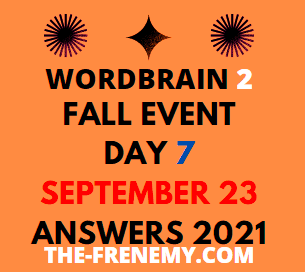 WordBrain 2 Fall Event Day 7 September 23 2021 Answers