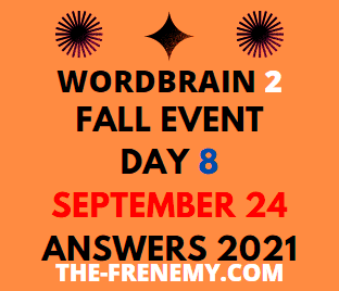 WordBrain 2 Fall Event Day 8 September 24 2021 Answers Today