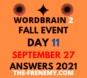 WordBrain 2 Fall Event September 27 2021 Answers Puzzle Today