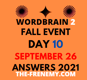 WordBrain 2 Fall September 26 2021 Answers Puzzle Today