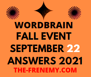 WordBrain Fall Event Daily September 22 2021 Answers Puzzle