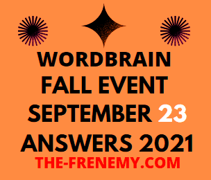 WordBrain Fall Event Daily September 23 2021 Answers