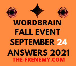 WordBrain Fall Event September 24 2021 Answers Today