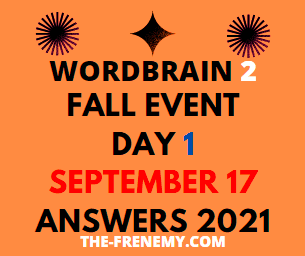 Wordbrain 2 Fall Event Day 1 September 17 2021 Answers Puzzle
