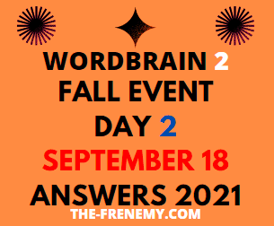 Wordbrain 2 Fall Event Day 2 September 18 2021 Answers Puzzle