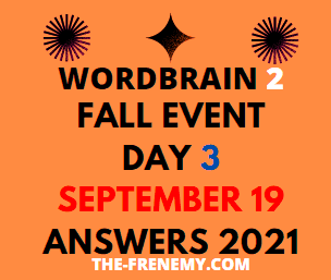 Wordbrain 2 Fall Event Day 3 September 19 2021 Answer Puzzle