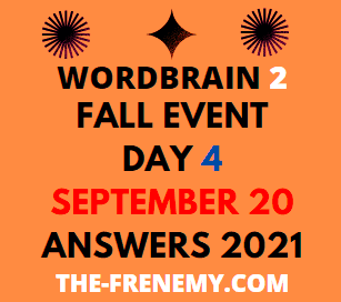 Wordbrain 2 Fall Event Day 4 September 20 2021 Answers Puzzle