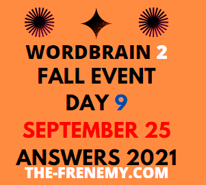 Wordbrain 2 Fall Event Day 9 September 25 2021 Answers Puzzle