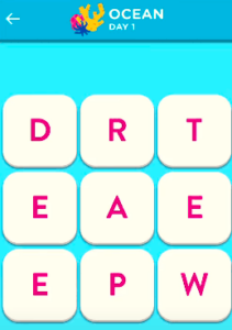 Wordbrain 2 Ocean Event Day 1 September 30 2021 Answers Today