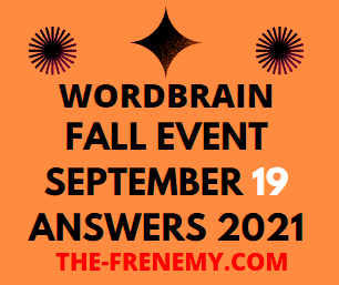 Wordbrain Fall Event September 19 2021 Answers Puzzle