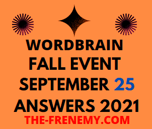 Wordbrain Fall Event September 25 2021 Answers Puzzle