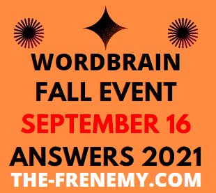 Wordbrain fall Event September 16 2021 Answers Puzzle