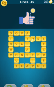 Words Crush Level 45 Answers Puzzle