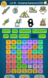 Words Crush Level 55 Answers Puzzle