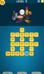Words Crush Level 9 Answers Puzzle