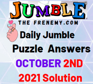 Daily Jumble Puzzle Answers Todays October 2 2021 Solution