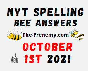 NYT Spelling Bee Daily October 1 2021 Answers Puzzle