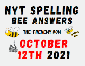 NYT Spelling Bee Daily October 12 2021 Answers Puzzle