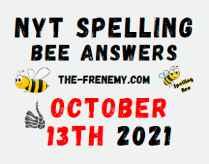 NYT Spelling Bee Daily October 13 2021 Answers Puzzle