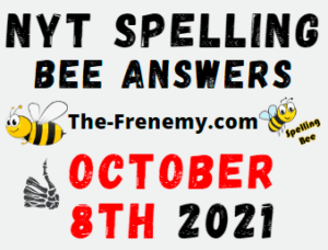 NYT Spelling Bee Daily October 8 2021 Answers Puzzle