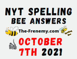 NYT Spelling Bee Daily Puzzle October 7 2021 Answers