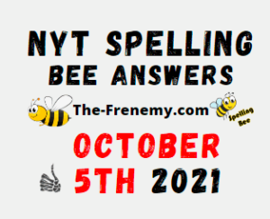 Nyt Spelling Bee Daily Puzzle October 5 2021 Answers