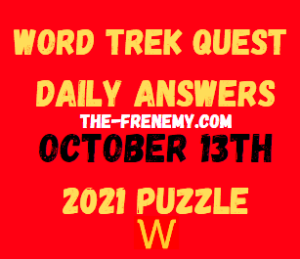 Word Trek Daily Quest October 13 2021 Answers Puzzle