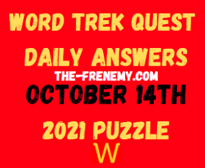 Word Trek Daily Quest October 14 2021 Answers Puzzle