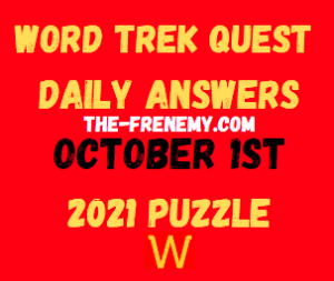 Word Trek Quest Daily October 1 2021 Answers Puzzle